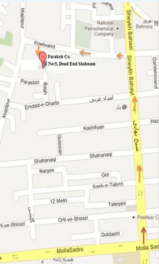map شرکت فراکوه