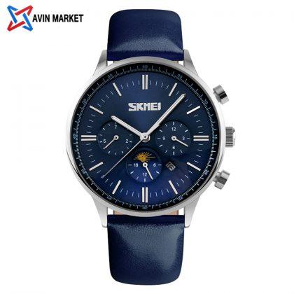 ساعت مچی مردانه صفحه آبی  3201 skmei