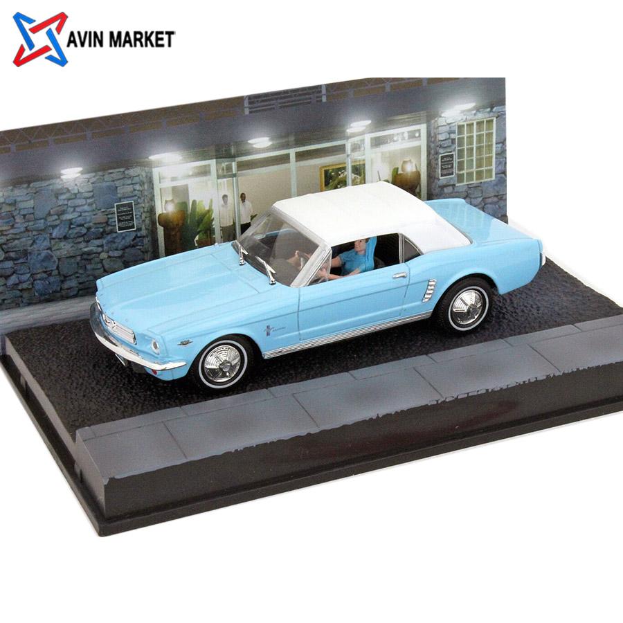 Ford Mustang Convertible James Bond Movie Car fireball light blue Ixo
