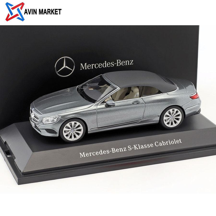 Mercedes-Benz S-Class Cabriolet (A217) selenite Grey 143 Kyosho
