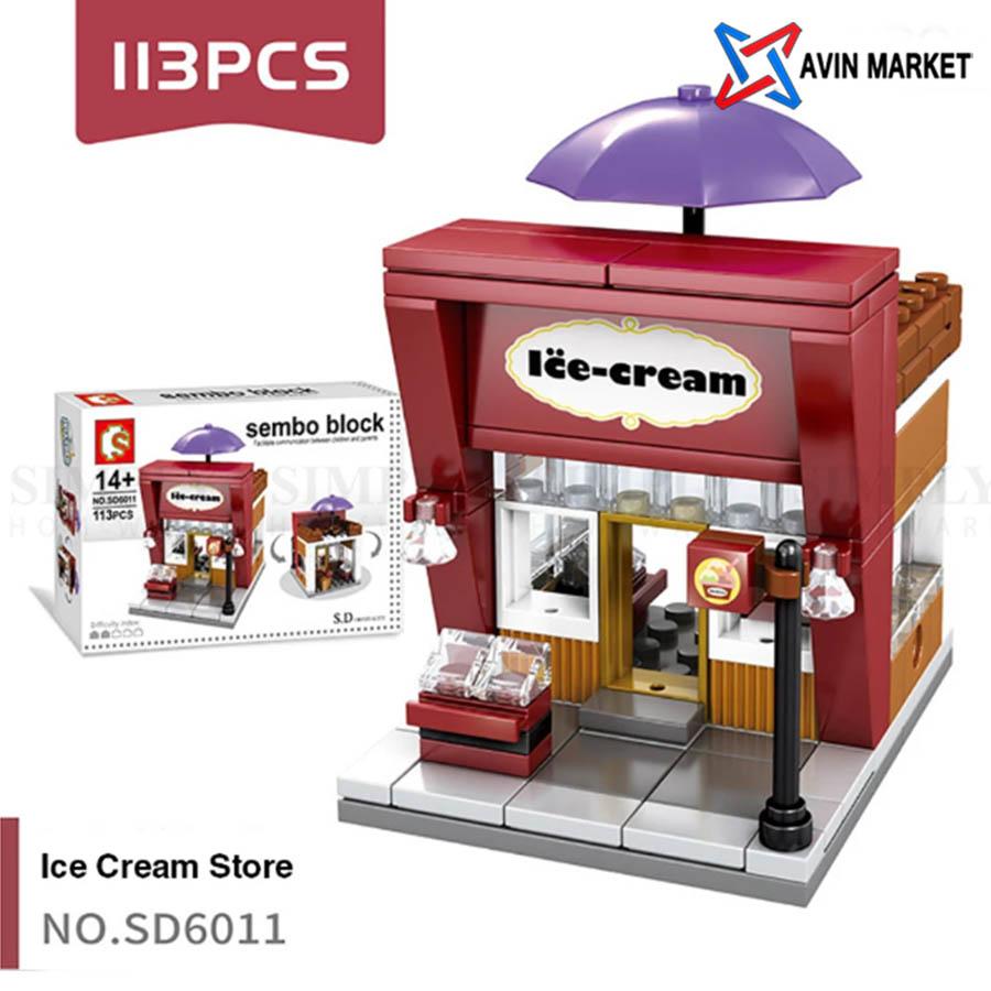 lego ic cream sembo block