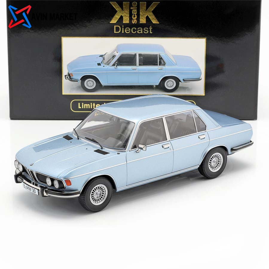 BMW 3.0S E3 series 2 year 1971 light blue kk-scale